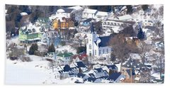 Mackinac Island Winter Beach Towel