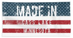 Made In Cass Lake, Minnesota Beach Towel
