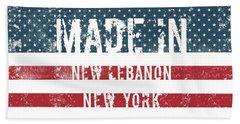 Made In New Lebanon, New York Beach Towel
