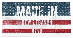 Made In New Lebanon, Ohio Beach Towel