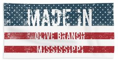 Made In Olive Branch, Mississippi Beach Towel