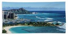 Magic Island To Diamond Head Beach Towel