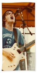 Malcolm Young Of Ac Dc At Day On The Green - July 1979 Beach Towel
