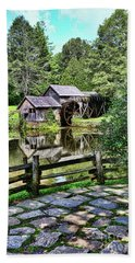 Beach Towel featuring the photograph Marby Mill Pathway by Paul Ward