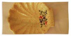 Medium Shell Plate Beach Towel by Itzhak Richter