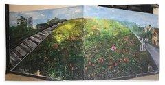 Beach Towel featuring the painting Memories Of Commonwealth by Belinda Low