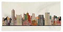 Memphis Skyline Beach Towel