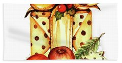 Beach Towel featuring the painting Merry Christmas by Heidi Kriel