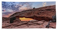 Mesa Arch At Sunrise Beach Towel