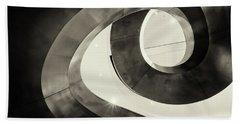 Abstract Metal Spiral Staircase Beach Sheet