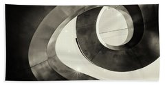 Abstract Metal Spiral Staircase Beach Towel