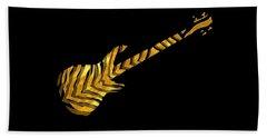 Beach Towel featuring the digital art Midas Bass by Guitar Wacky