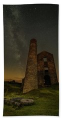 Milky Way Over Old Mine Buildings. Beach Sheet