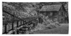 Beach Towel featuring the photograph Mingus Mill 3 Mingus Creek Great Smoky Mountains Art by Reid Callaway
