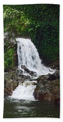 Mini Waterfall Beach Sheet by Pamela Walton
