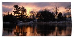 Mississippi River Dawn Light Beach Towel by Kent Lorentzen