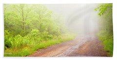 Misty Back Road, Pocono Mountains, Pennsylvania Beach Sheet