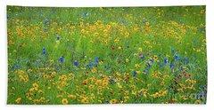 Mixed Wildflowers In Texas 538 Beach Towel