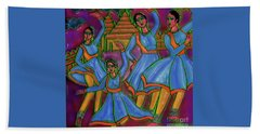 Beach Towel featuring the digital art Monsoon Ragas by Latha Gokuldas Panicker