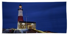 Beach Towel featuring the photograph Montauk Point Lighthouse by Susan Candelario