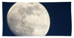 Moon In Blue Beach Towel