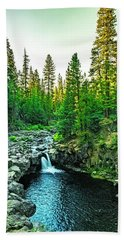 Beach Towel featuring the photograph Morning At The Falls by Nancy Marie Ricketts