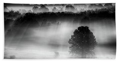 Morning Fog Beach Towel by Nicki McManus