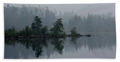 Morning Fog Over Cranberry Lake Beach Towel