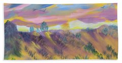 Beach Towel featuring the painting Morning Glory by Meryl Goudey