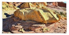 Morning In Wash 3 In Valley Of Fire Beach Towel