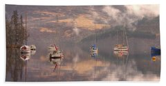 Morning Reflections Of Loch Ness Beach Towel