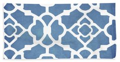 Moroccan Blues Beach Towel by Mindy Sommers