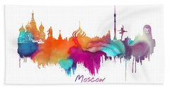 Moscow  Beach Towel by Justyna JBJart