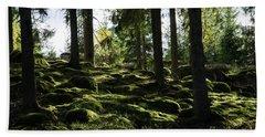 Beach Sheet featuring the photograph Mossy Rocks by Kennerth and Birgitta Kullman