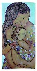 Motherhood Flowers All Over Beach Towel
