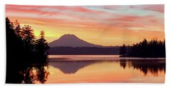 Mount Rainier Dawn Beach Towel
