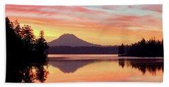 Mount Rainier Dawn Beach Towel