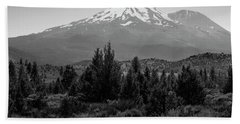 Mount Shasta And Shastina Beach Towel