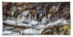 Mountain Stream Beach Towel by Elaine Malott
