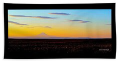 Mt. Adams Sunset Beach Towel