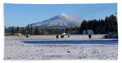 Beach Towel featuring the photograph Mt. Pilchuck by Rebecca Parker