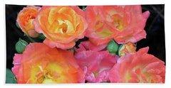 Multi-color Roses Beach Towel