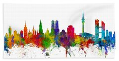 Munich Germany Skyline Beach Towel