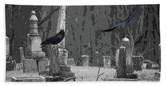 Murder Of Crows Beach Towel by Rowana Ray