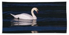 Beach Sheet featuring the photograph Mute Swan  by Sharon Talson