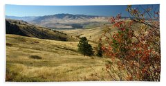 National Bison Range Beach Towel by Cindy Murphy - NightVisions