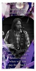 Neil Young Art Beach Towel