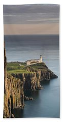 Neist Point At Sunset Beach Towel