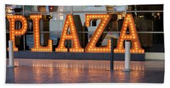 Neon Plaza Beach Towel