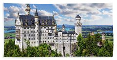 Neuschwanstein Castle Beach Towel